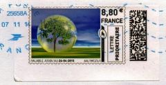 modern stamp France € 8,80 (tree, Baum, Naturschutz, réserve naturelle; private label stamp? Timbre de distributeurs?) Republique Francaise la poste France Francia Frankreich Franca Republique Francaise Fransa stamp Briefmarke timbre marka selo francoboll
