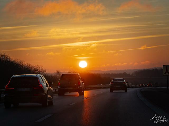 Sunrise on Our Way to Aarhus 2021