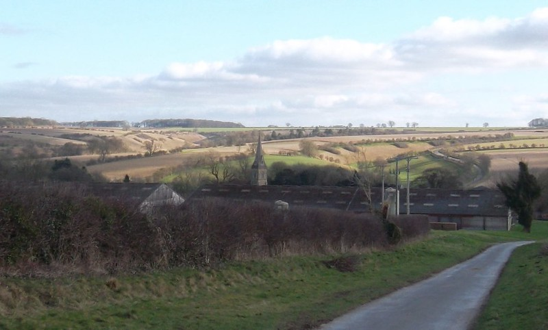 Warter looking back down the hill