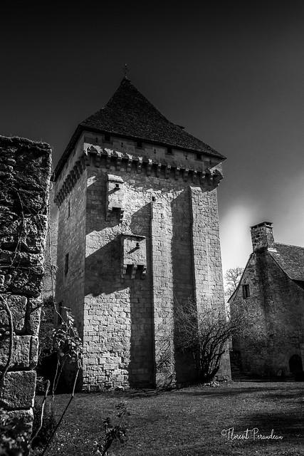 au fil de la Dordogne en Noir et Blanc