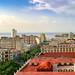 Vista de La Habana, al fondo el castillo de los tres Reyes del Morro