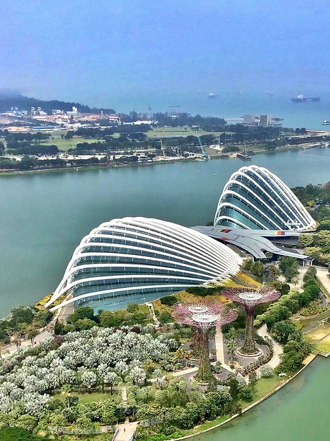 The two Domes in the Gardens by the Bay, Singapore
