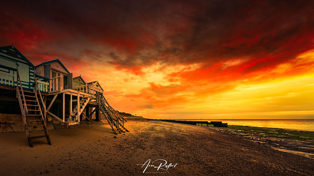 Walton Beach Huts Sunset [Explored]