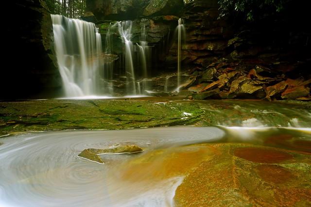 Elakala Falls: Rock 'n swirl