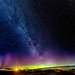 The Aurora Borealis and Milky Way over Gress