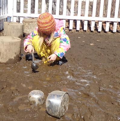 scoops of mud