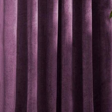 Set draperii din catifea cu rejansa din bumbac tip fagure, Madison, 200x210 cm, densitate 700 g/mp, Regal purple, 2 buc 1