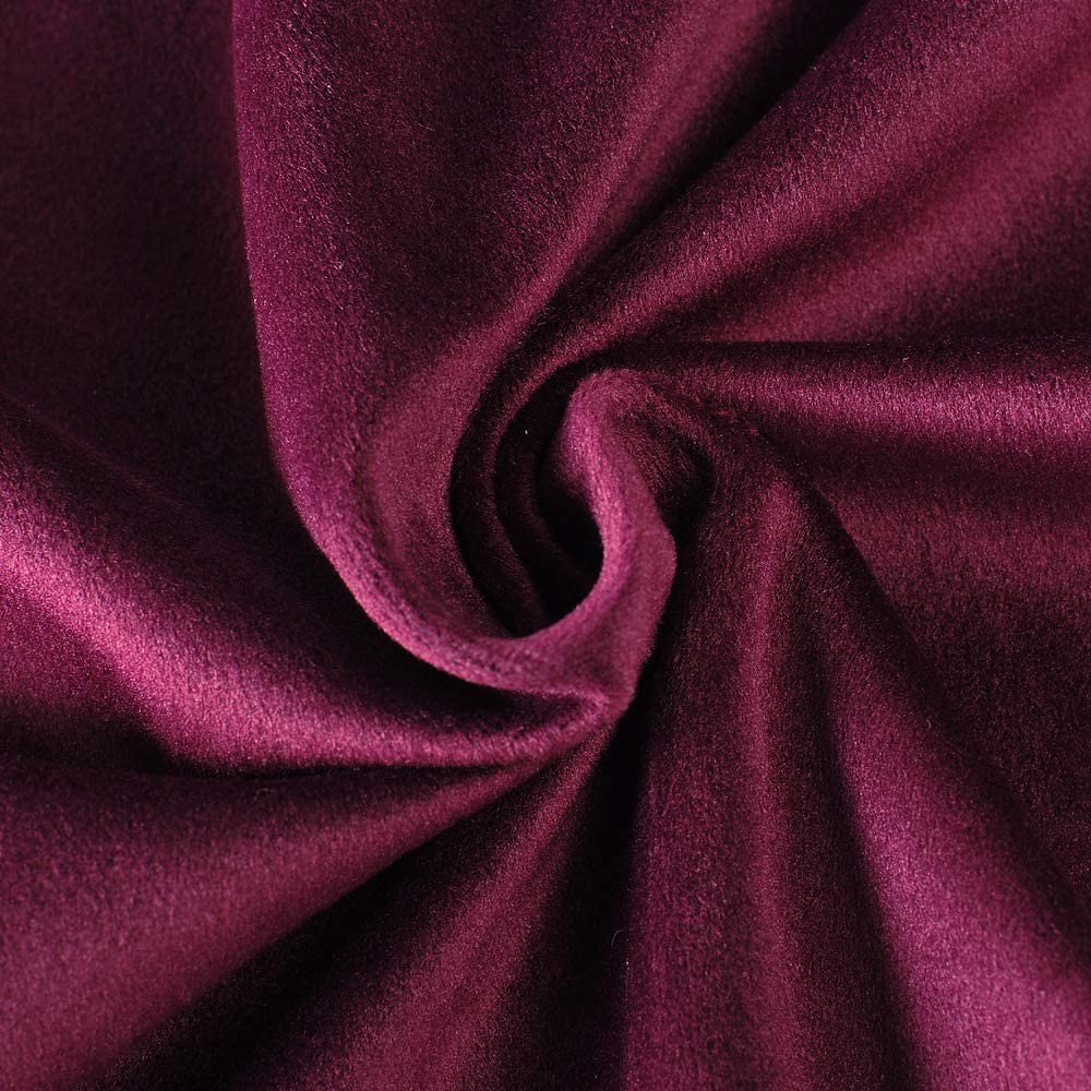 Set draperii din catifea cu rejansa din bumbac tip fagure, Madison, 200x210 cm, densitate 700 g/mp, Regal purple, 2 buc 3