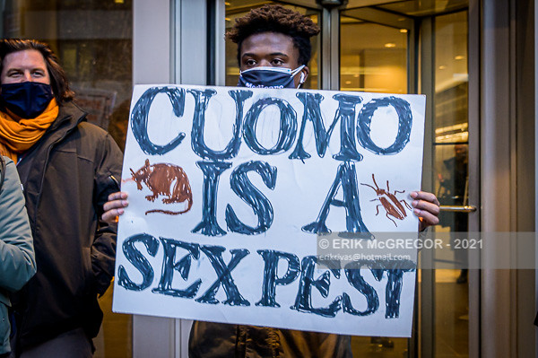 New Yorkers held a protest calling for Governor Cuomo to resign