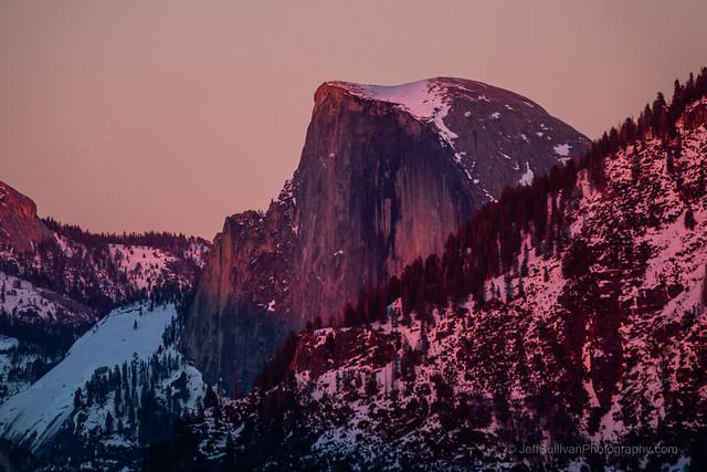 Subtle Alpenglow on Half Dome