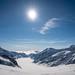 No skiers on the Aletschgletscher
