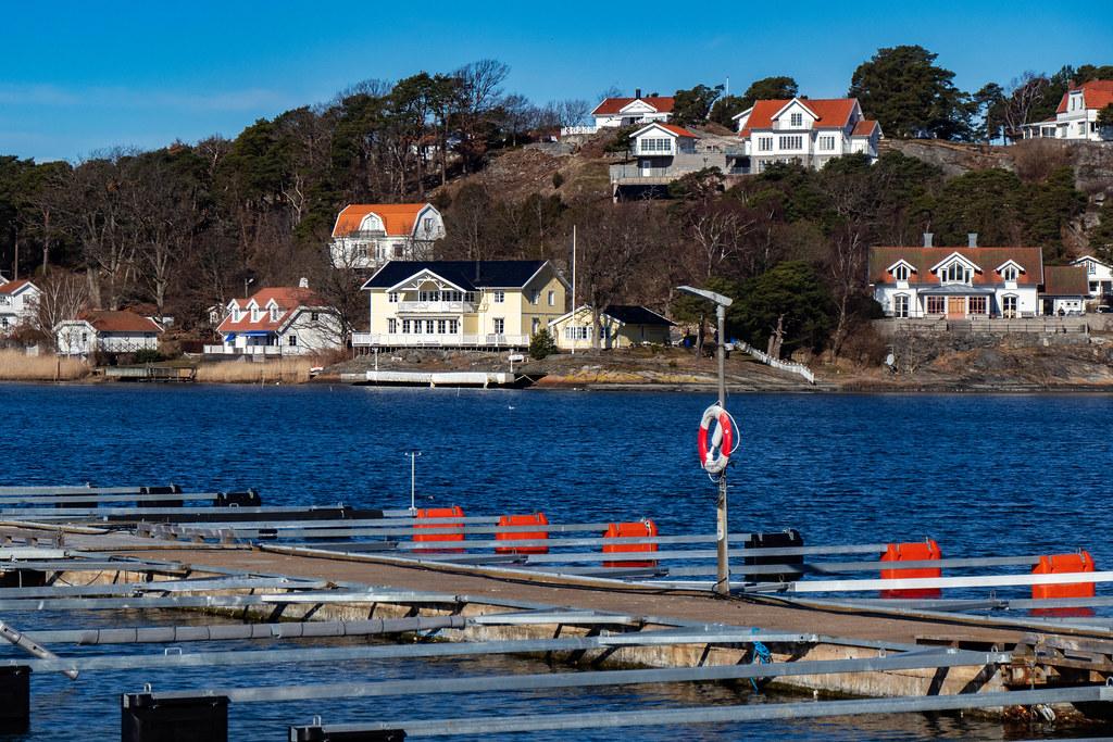 Sunny Mars day in Stenungsund Harbor