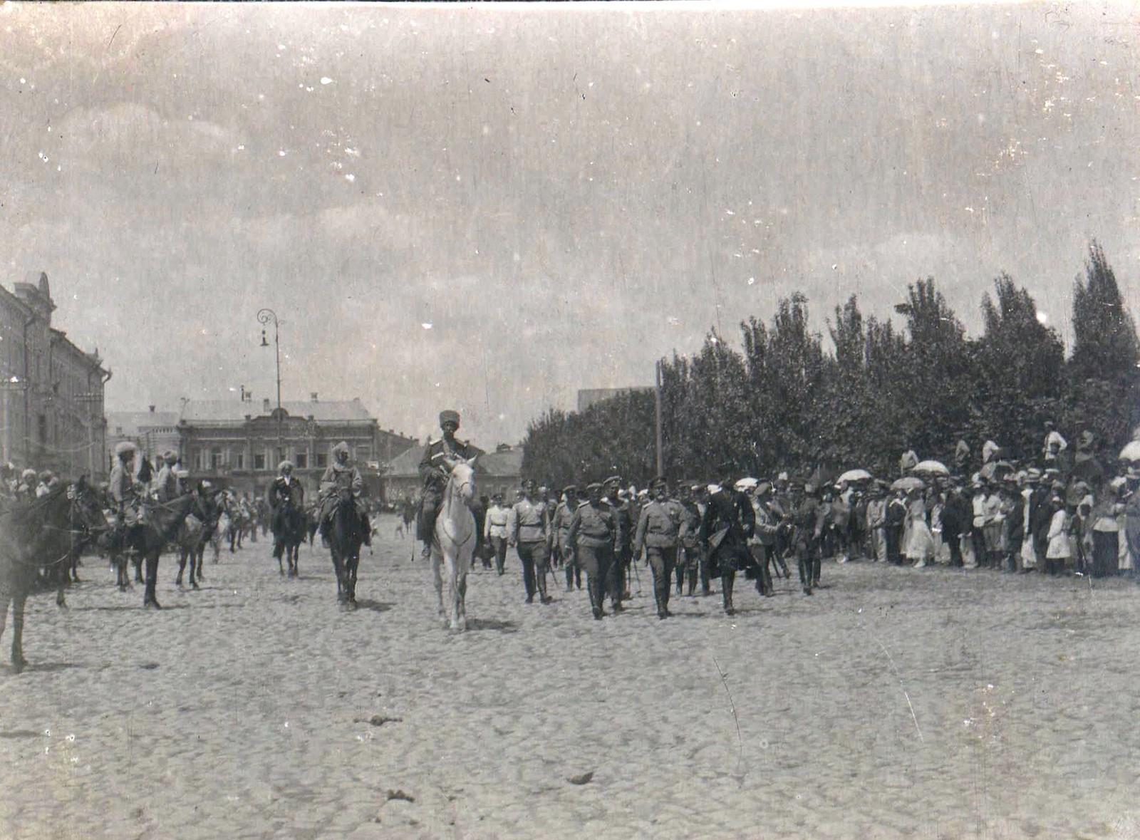 128. 1919. Парад войск в Царицыне.20 июня