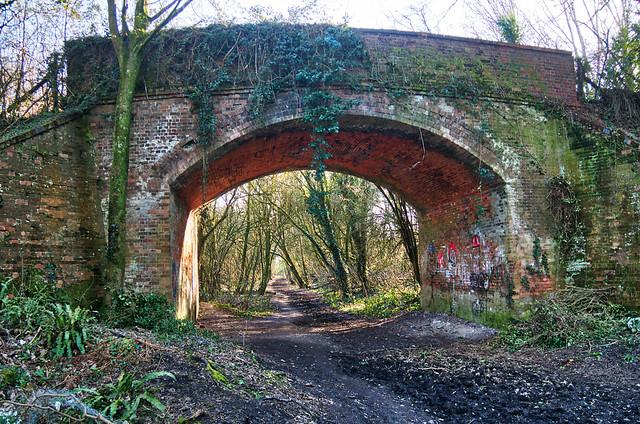 Old rail bridge at Worthy Down