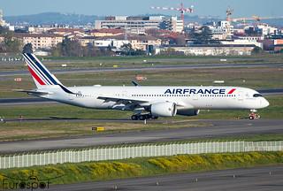 """F-WZGR/ F-HTYH Airbus A350-941 Air France """"Dijon"""" s/n 488 * Toulouse Blagnac 2021 *"""