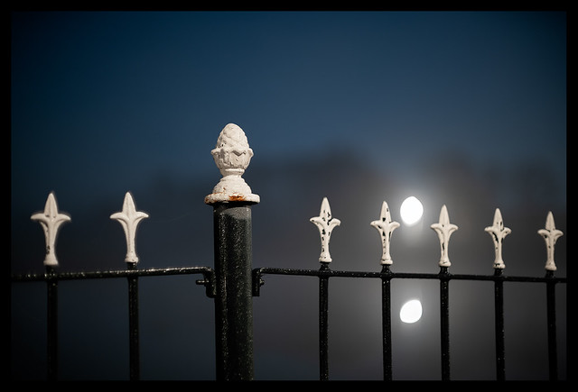 Fence by night