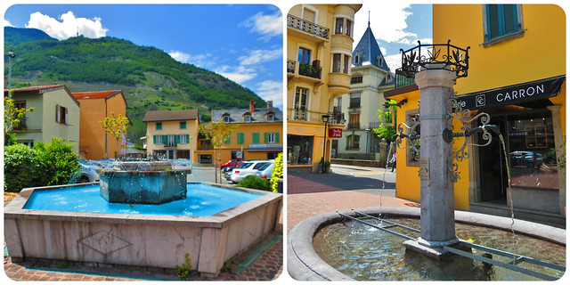 Fountains-Old Town and Place Centrale, Martigny, Switzerland