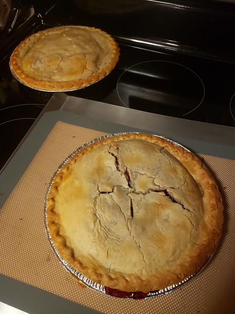 Mixed Berry and Peach Pies