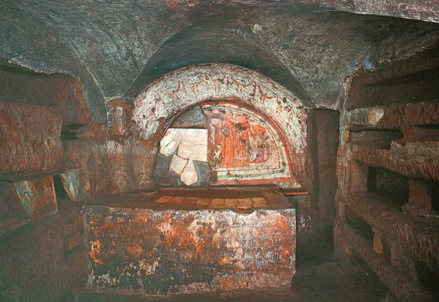 Italy - Rome (Catacombs of Domitilla - Cubiculum of Veneranda)