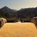 Vue dégagée depuis le tombeau du roi Kongmin
