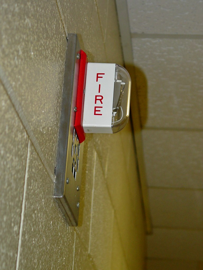 Fire alarm in Roop Hall [03]