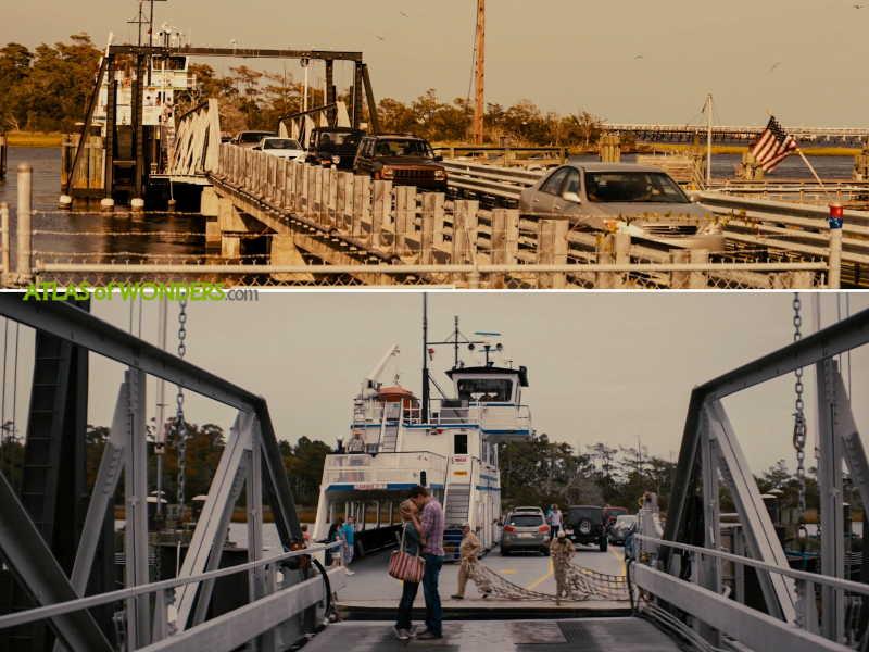 Ferry boat kiss scene