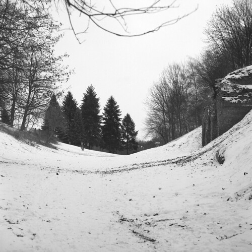 Sledding in an old fortress | by Bohdan Bobrowski