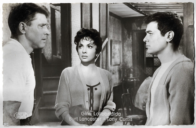 Burt Lancaster, Gina Lollobrigida and Tony Curtis in Trapeze (1956)