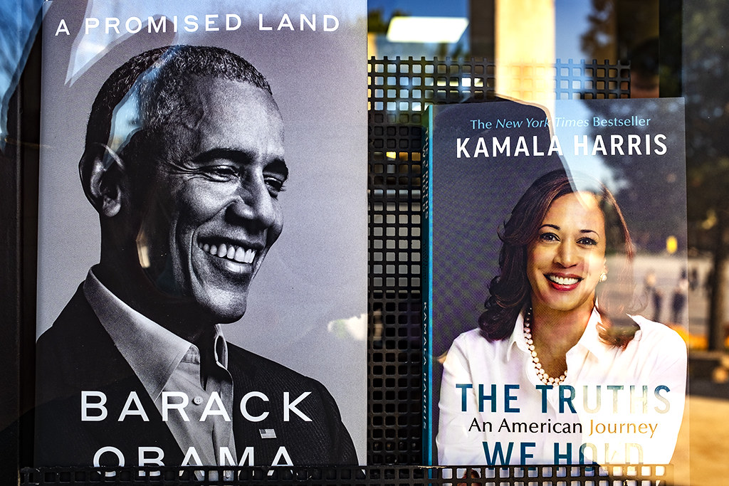Obama's and Kamala Harris' books on 3-2-21--Tirana