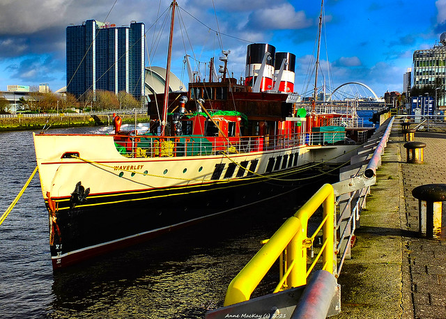 Scotland Glasgow the PS Waverley laidup for winter 25 February 2021 by Anne MacKay