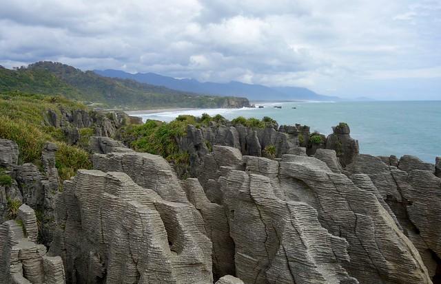 Pancake Rocks-in New Zealand