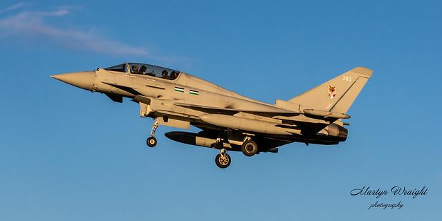 RAF 12 Sqn Typhoon Eurofighter T2.
