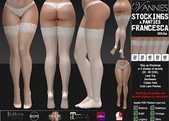 VANNIES Stockings Francesca white