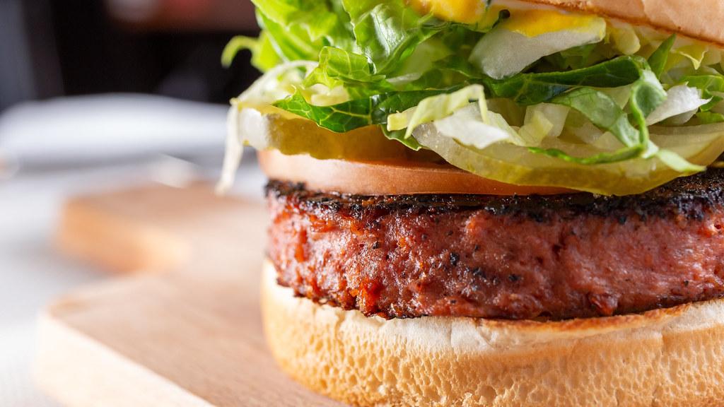 Plant-based burger.