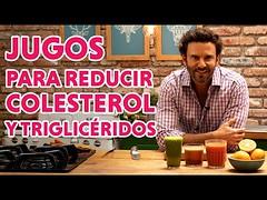 Jugos para reducir colesterol y triglicéridos