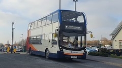 Stagecoach North East ADL Enviro400 MMC SN69 ZPU seen here leaving killingworth after finishing the 695 yesterday