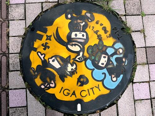 Iga Mie, manhole cover 2 (三重県伊賀市のマンホール)