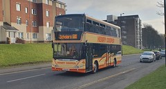 Henry Cooper Coaches Scania N230UD OmniCity HC10 PER seen here on the 680 at Killingworth yesterday
