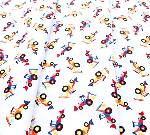 Windham Fabrics Work Zone 52266-1 Bulldozer