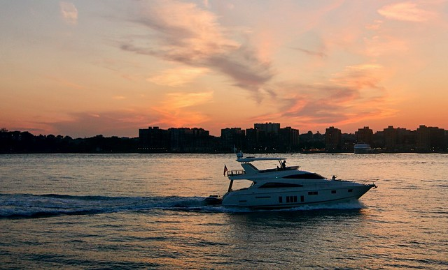 Sunset over the Hudson - Chelsea Piers, New York City