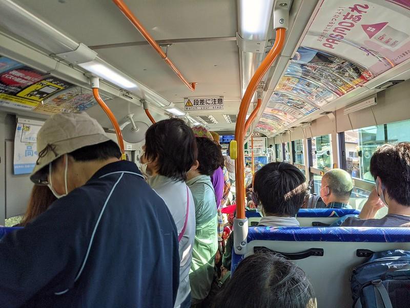 ミツバ岳の帰りのバス