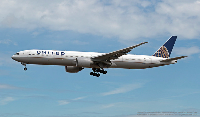 N2341U EDDF 04-07-2020 (Germany) United Airlines Boeing 777-322ER CN 63721