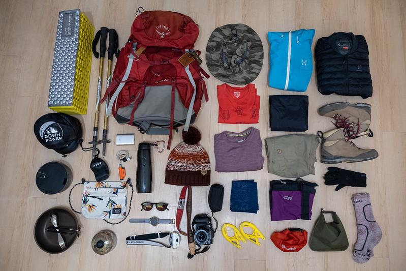 Melissa的登山裝備。圖/山女孩提供