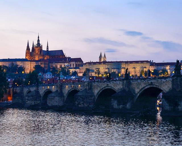 Puente de Carlos desde la estatua de Bedřich Smetana