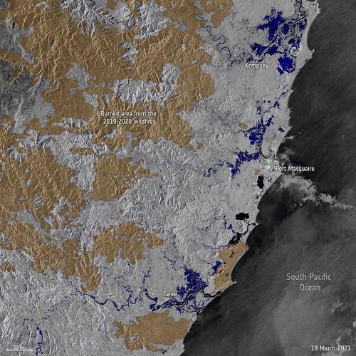 Satellites map record floods in Australia