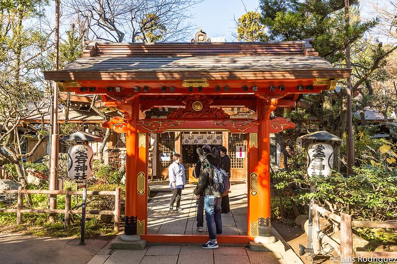 Puerta Ni-nuri del santuario Atago