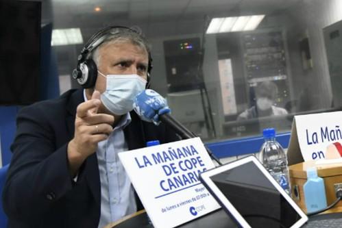"""El Presidente del Gobierno de Canarias, Ángel Víctor Torres"""", durante la entrevista en Cope Canarias con Mayer Trujillo"""