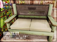 Violetility - Floral Truck Bench