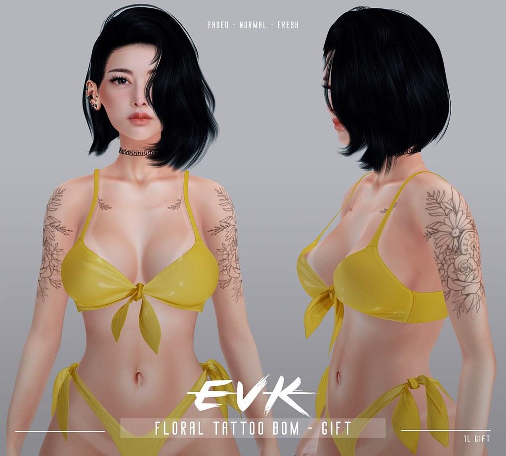 [ E V K ] Floral Tattoo BOM – FREE GIFT