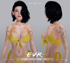 [ E V K ] Floral Tattoo BOM - FREE GIFT